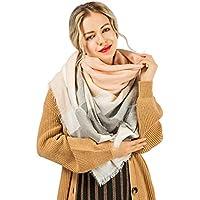 Women Scarfs yeabiu Winter Blanket Scarfs Classic Fashion Lattice Shawl Large Long Scarf Wrap Plaid Scarfs for Women