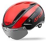Giro Air Attack Shield 16大人用のサイクリングヘルメット、ユニセックス、Fahrradhelm Air Attack Shield 16、BrightRED /ブラックby Giro