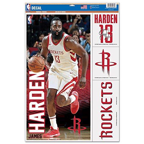 Wincraft ステッカーシート NBA ジェームス・ハーデン ヒューストン・ロケッツ #13