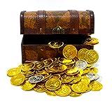 海賊 宝箱 セット 鍵付 MK-2 ゴールド コイン & シルバー コイン のセット KOZIMA Original package