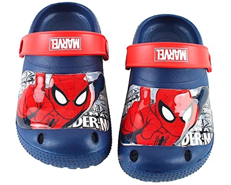 [スパイダーマン] Marvel Spiderman SD715 HERO ボーイズ クロックススタイル ブルー サンダル [並行輸入品]