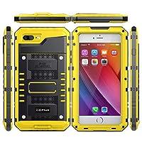 iPhone 7 Plus iPhone 8 Plus 防水 シェル, プレミアム 重い 義務 アウトドア/屋内 耐衝撃性 緩衝器 カバー 〜と スクリーン 保護 膜 の iPhone 7 Plus iPhone 8 Plus (Yellow)