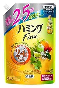 【大容量】ハミングファイン 柔軟剤 フルーティアロマの香り 1200ml(2.5倍分)