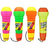 NUOLUX 4pcs Echo Microphone Toy Pretend Play Multicolor Novelty Toy for Kids Graduations Holidays Birthday Parties