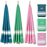 Eden Cove Microfiber Beach Towel, Quick Dry Travel Towel & Canvas Bag - Extra Large 71x39  in Sunset Pink - Fast Drying, Compact, Lightweight, Absorbent - for Beach, Travel, Swimming, Gym, Sports. [並行輸入品]