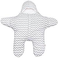 (トヨベイ)Toyobuy 秋冬 ベビー 子供用 星形 ブランケット 赤ちゃん対応 ネグリジェ ボディスーツ マーメイド ブランケット 着る毛布 ひざ掛け 寝袋 シュラフ おくるみ グレー
