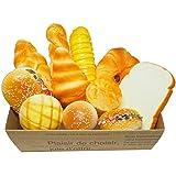 スクイーズ パン 食パン クロワッサン メロンパン 食品サンプル パン11個セット カフェディスプレイ