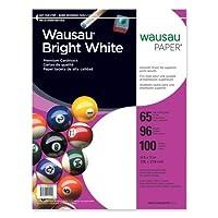 Wausau・ペーパー91901厚紙用紙、65lb。、8–1/ 2x11インチ、100/ PK、ホワイト