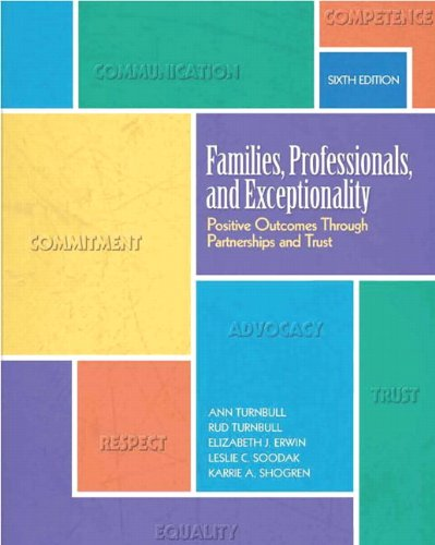 Download Families, Professionals, and Exceptionality: Positive Outcomes Through Partnerships and Trust 0137070489