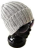 (アーケード) ARCADE コットン100% オールシーズン リブ編みニット帽 折り返し ニットキャップ ワッチキャップ グレー