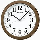 SEIKO CLOCK (セイコークロック) 掛け時計 電波 アナログ コンパクトサイズ 茶メタリック KX379B