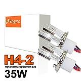 Engync 35W H4-2 6000K対応 HIDバルブ Hi/Low交換用ヘッドライトバーナー セラミックコアキセノン電球 高速点灯