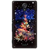 CaseMarket 【ポリカ型】 au Xperia UL SOL22 ポリカーボネート素材 ハードケース [ Frame Picture Collections ホワイト クリスマス ]