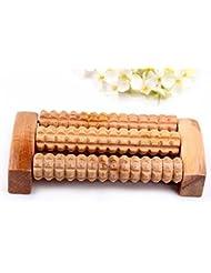 リフレクソロジー、自然木製 足踏み ストレス解消 リラックス 足裏健康器具、足の痛み お風呂 血行促進 (3列)