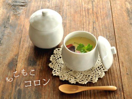 【M'home style】白い食器 かわいい茶碗蒸し ホワイトレベル2