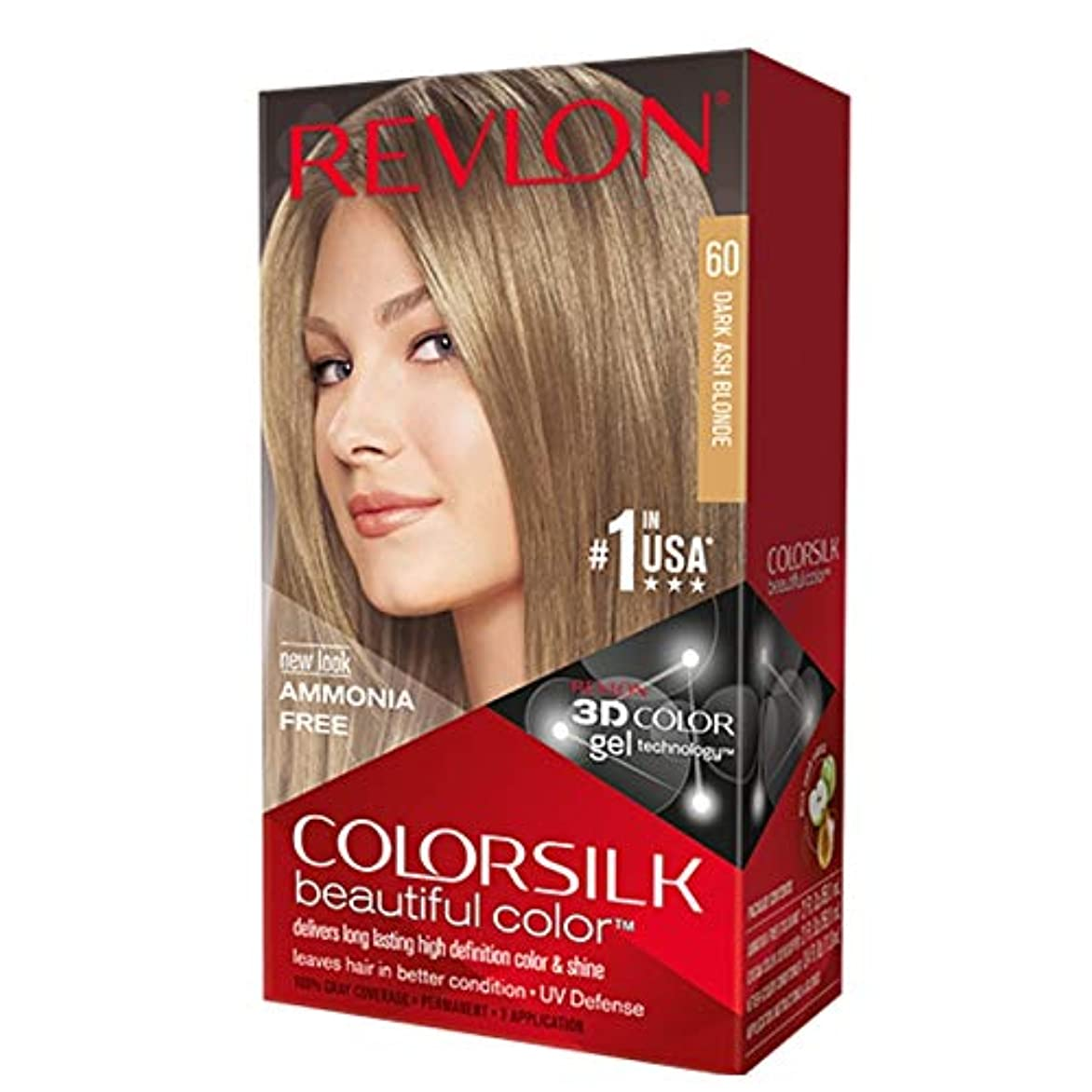 まどろみのあるグリーンバック規制海外直送肘 Revlon Colorsilk Natural Hair Color 6A Dark Ash Blonde, 6A Dark Ash Blonde each