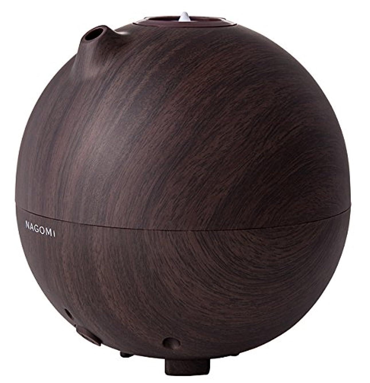 崇拝します拘束透けるペットボトル加湿器「ナゴミ」 木目調 HFT-1522 ダークブラウン