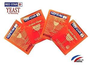 Red Star ワインイースト Pasteur Red Premier Rouge 5g 4パック (日本語説明書付き)