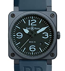 Bell&Ross ベル&ロス AVIATION BR 03 42 MM BR 03-92 BR 03-92 BLUE CERAMIC [正規品]
