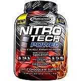 Muscletech, Nitro Tech Power、究極の筋肉増強プロテイン、トリプルチョコレートシュプリーム味、4.00 lbs (1.81 kg) [並行輸入品]