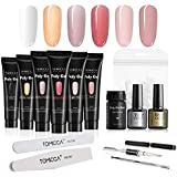 TOMICCA Poly Gel Polygel Nail Kit UV Builder Gel Nail Extension