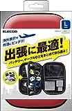 【2014年モデル】ELECOM 汎用ガジェット収納ポーチ Lサイズ レッド TB-02GPRD