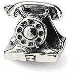 Iceカラット925スターリングシルバーチャームのブレスレット電話ビーズAround the House Fineジュエリーギフトセットレディースハート