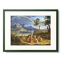 ジョセフ・アントン・コッホ Joseph Anton Koch 「Landscape with Noah Offering a Sacrifice of Gratitude. 1803」 額装アート作品