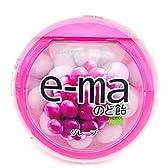 味覚糖 e-maのど飴容器 グレープ 33g×6個