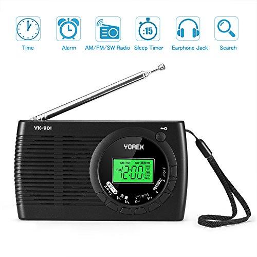 YOREK AM/FM/SW ワイドFM対応ポータブルラジオ YK-901 B07DZWCWJ8 1枚目