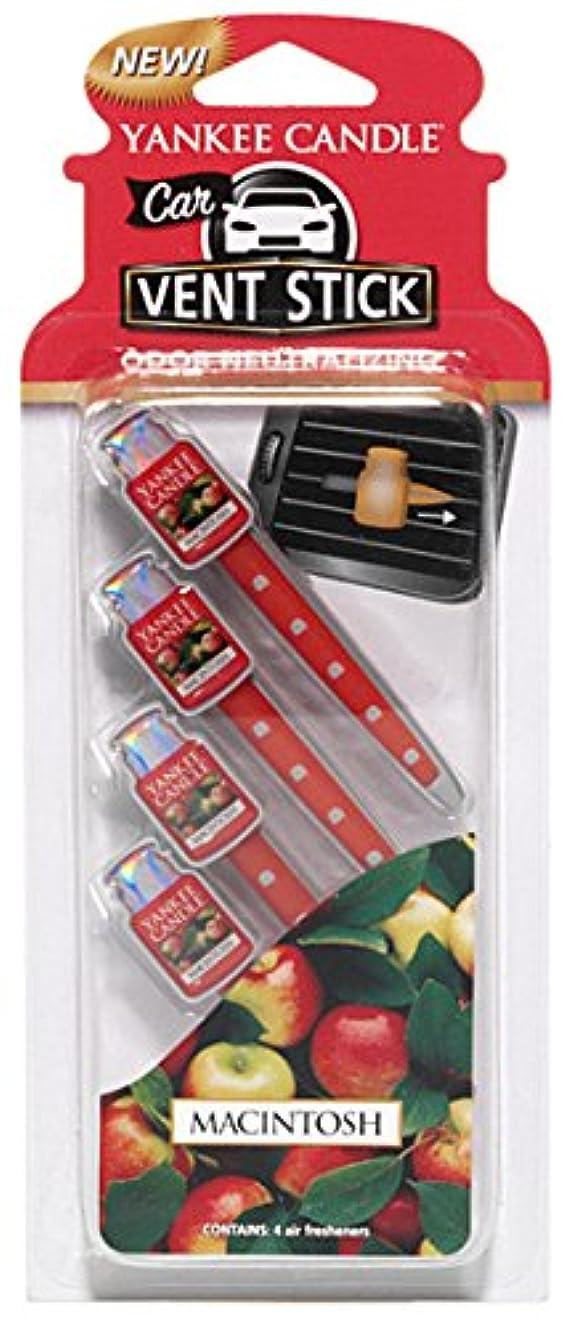 オプション叙情的な赤ヤンキーキャンドル カーフレグランススティック(4本入り) マッキントッシュ YANKEECANDLE 車のエアコン部分につけるフレグランスアイテム