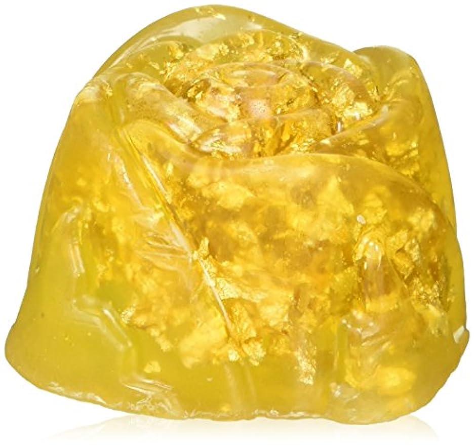 摘む大きさ味方クリスタル (G) 金箔入りソープ ヒアルロン酸Na配合 105g