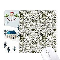 動物のフルーツカーニバル・ブラック・ホワイト サンタクロース家屋ゴムのマウスパッド