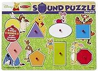 Melissa & Doug Disney Winnie the Pooh Shapes Sound Puzzle - Wooden Peg Puzzle (8 pcs) [並行輸入品]