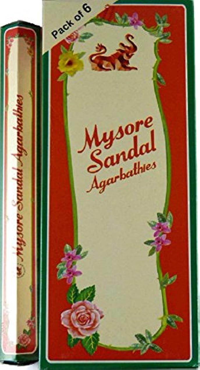 浮くビュッフェ覗くMysore Sandal Incense – 6 20スティックチューブ、120 Sticks合計 – インドから