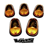 03-16 Dodge Ram 2500 3500 Dually Cab Roof Lights Markers 5 Piece pc COVERS with BASE Kit in AMBER CRL 264146AM (with Built-in AMBER LED Bulbs) 03 04 05 06 07 08 09 2003 2004 2005 2006 2007 2008 2009 2010 2011 2012 2013 2014 2015 2016