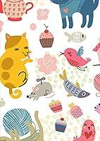 ポスター ウォールステッカー シール式ステッカー 飾り 515×728㎜ B2 写真 フォト 壁 インテリア おしゃれ 剥がせる wall sticker poster pb2wsxxxxx-013447-ds 動物 鳥 猫