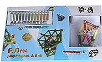 Magnetic Sticks And Balls Building Toy Set - 60 Piece [並行輸入品]