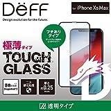 Deff(ディーフ) TOUGH GLASS for iPhone XS Max タフガラス iPhone XS Max 2018 用 フチあり 二次硬化ガラス使用 ディスプレイ保護ガラス (透明クリア・Dragontrail X)