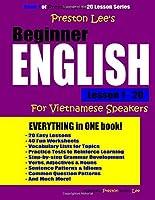 Preston Lee's Beginner English Lesson 1 - 20 For Vietnamese Speakers