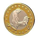 POTOJP コレクション貨幣 記念硬貨 ゴールドメッキ 仮想通貨レプリカ コイングッズギフト 装飾貨幣 (A)