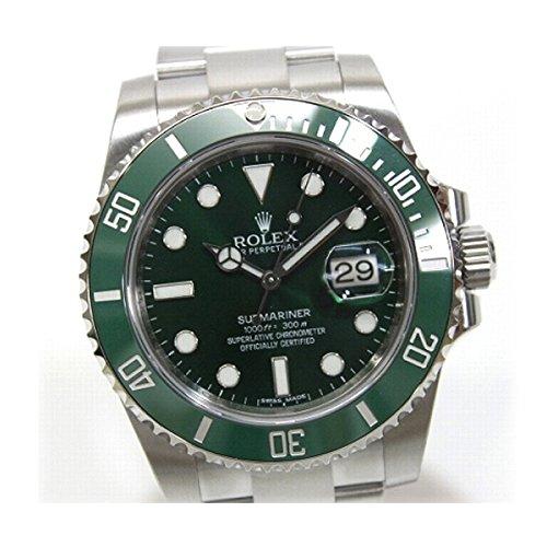 ROLEX(ロレックス) 新型グリーン サブマリーナ メンズ腕時計 自動巻 SS グリーン文字盤 ルーレットランダムシリアル 116610LV KK ロレックス サブマリーナ ロレックス サブマリーナ