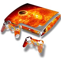 Cosmos, Skin Sticker Vinyl Cover with Leather Effect Laminate and Colorful Design for PlayStation 3 Slim by Virano [並行輸入品]