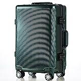 (トラベルハウス)TRAVELHOUSE 軽量アルミフレーム スーツケース キャリーケース キャリーバッグ TSAロック搭載 一年間修理保証 超軽量 フレーム L1602 (L, Aブラックグリーン)
