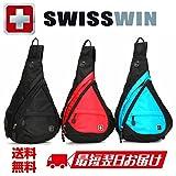 (スイスウィン)SWISSWIN ボディバッグ メンズ レディース 大学生 ボディバッグ ワンショルダー バッグ かばん 肩掛け 斜め掛け ショルダーバック 斜めがけバッグ SW9966 (ブラック)