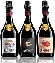 華やかな香りと味わいが広がる! 金賞受賞 珍しいスパークリング赤ワイン3本セット 750mlx3 [イタリア/Amazon.co.jp限定/Winery Direct]