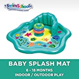 Swimschool Splash Play Mat with Backrest for Babies & Toddlers, Inflatable Kiddie Pool with Three Toys