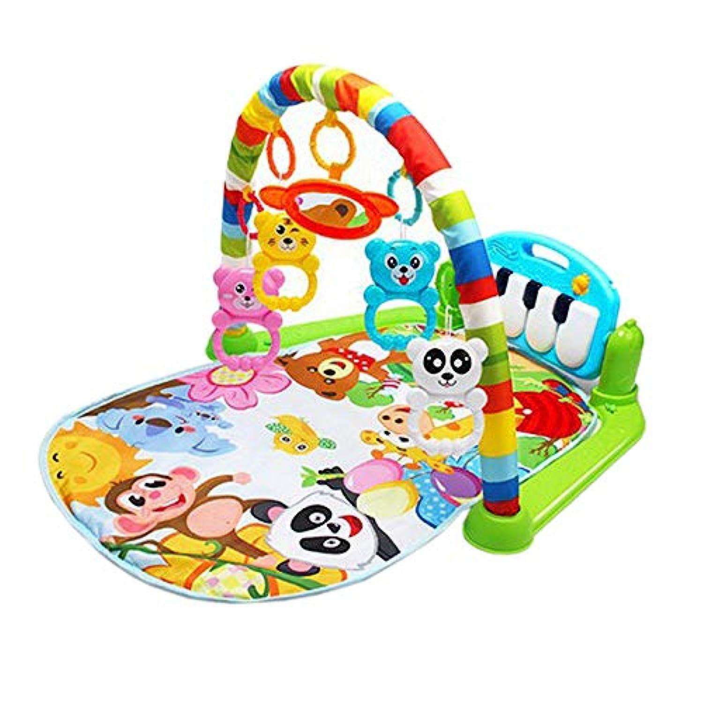 Nrpfell 赤ちゃんのおもちゃ カラフル ミュージカル?プレイ ジムプレイマット 動物