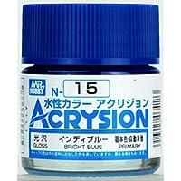 【水性アクリル樹脂塗料】新水性カラー アクリジョン インディブルー 光沢 N15