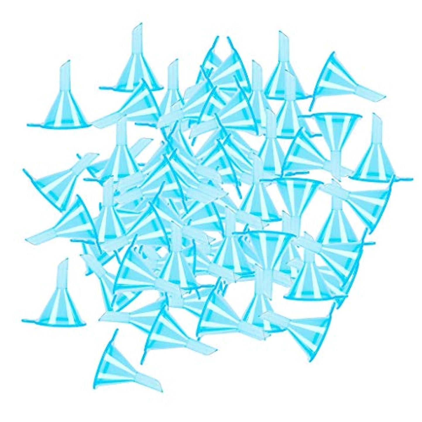 gazechimp ファンネル 漏斗 エッセンシャルオイル 香水ボトルのため 全100点 3カラー選ぶ - ブルー